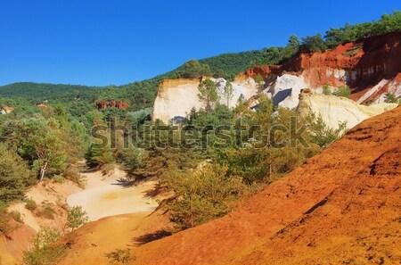 Rotsen 15 natuur landschap oranje reizen Stockfoto © LianeM