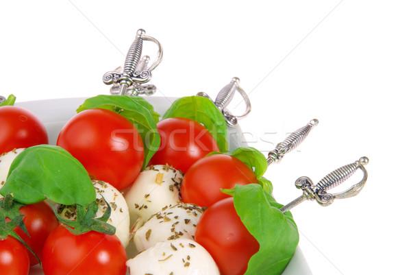 Cracher mozzarella 19 feuille fromages balle Photo stock © LianeM