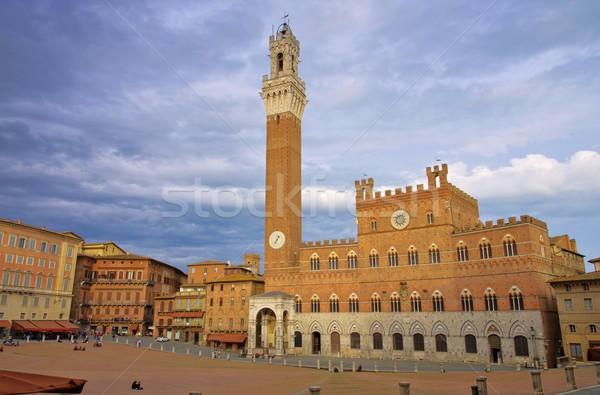 Siena Palazzo Pubblico  Stock photo © LianeM