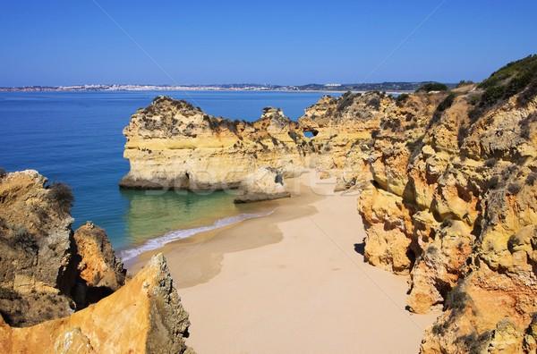 Algarve beach Dos Tres Irmaos  Stock photo © LianeM