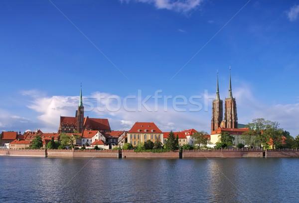 Breslau the cathedral island Stock photo © LianeM