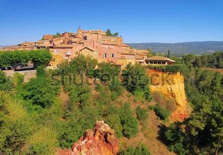 Roussillon village in Vaucluse Stock photo © LianeM