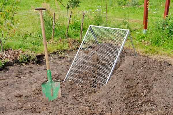 compost pile sieve 02 Stock photo © LianeM