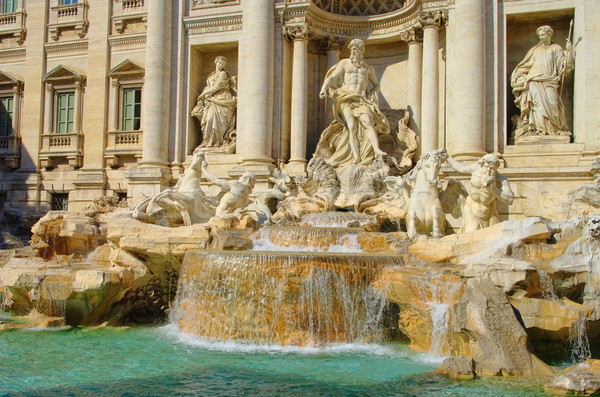 Roma trevi Çeşmesi sanat seyahat mimari Avrupa Stok fotoğraf © LianeM