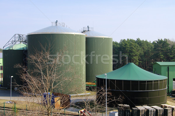 Biogas plant 60 Stockfoto © LianeM