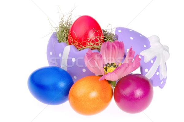 Stock fotó: Húsvét · kosár · 14 · fű · narancs · zöld