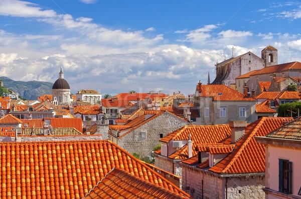 ドゥブロブニク 教会 ヨーロッパ 町 大聖堂 詳細 ストックフォト © LianeM