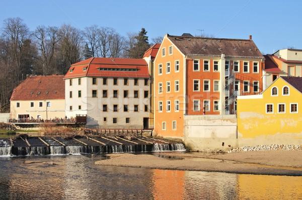 Wody młyn domu ściany rzeki Europie Zdjęcia stock © LianeM