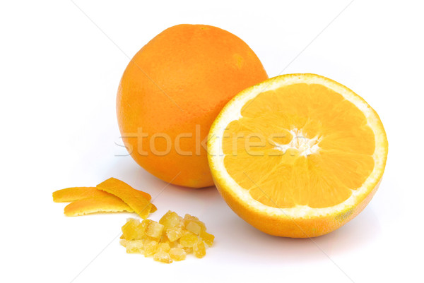 Confits orange alimentaire fruits fond Photo stock © LianeM