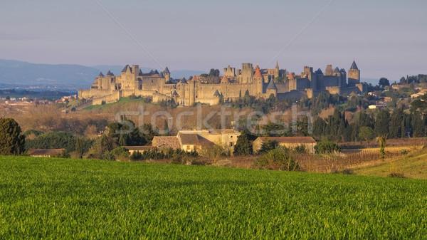 Stock photo: Castle of Carcassonne, France