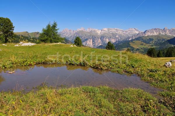 Passz olasz Alpok víz kő Európa Stock fotó © LianeM