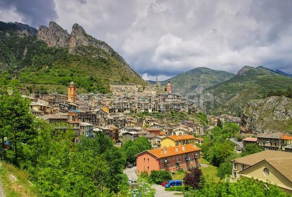 Alpine ville montagne église montagnes Europe Photo stock © LianeM