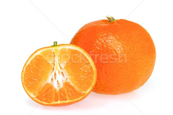 Mandarin izolált 13 természet szín fehér Stock fotó © LianeM