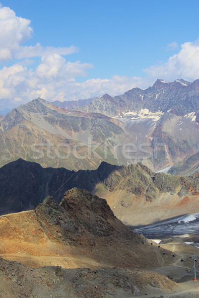 Valle ghiacciaio natura montagna ghiaccio rock Foto d'archivio © LianeM