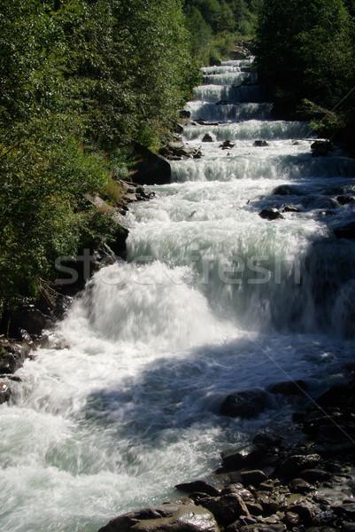 Torrente natura cascata fiume bianco rocce Foto d'archivio © LianeM