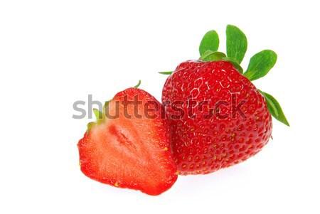 Aardbei geïsoleerd 15 voedsel achtergrond Rood Stockfoto © LianeM