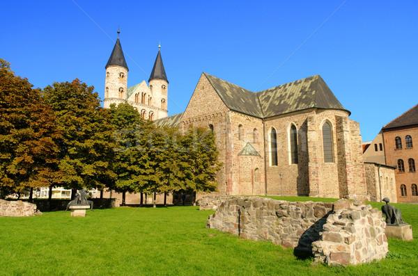 Abadia árvore parede religião mosteiro Foto stock © LianeM