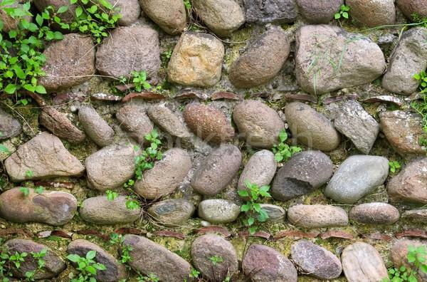 Doğal taş duvar çalışmak arka plan alan kaya Stok fotoğraf © LianeM