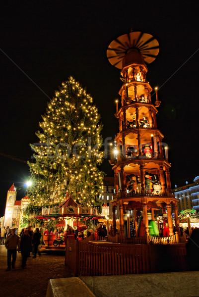 Dresden christmas market  01 Stock photo © LianeM