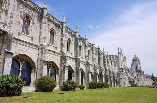 Lisboa mosteiro arte igreja arquitetura religião Foto stock © LianeM