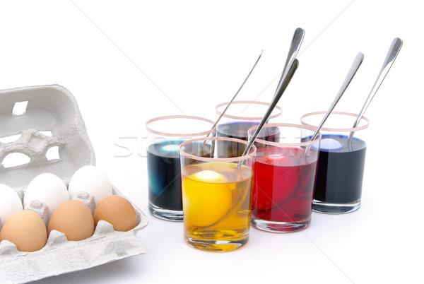 пасхальных яиц цвета 18 Сток-фото © LianeM