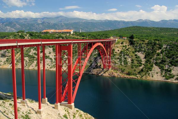 Tenger híd 13 égbolt víz út Stock fotó © LianeM