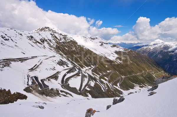 Stelvio Pass in Winter, South Tyrol Stock photo © LianeM