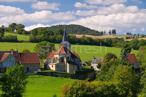Bazoches, small village in Burgundy Stock photo © LianeM