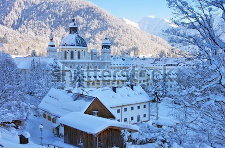 Ettal abbey in winter  Stock photo © LianeM