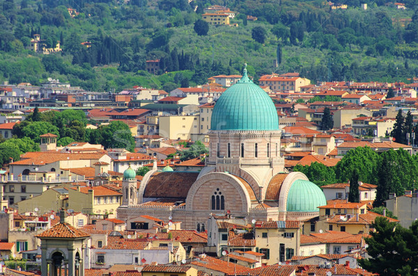 Photo stock: Magnifique · synagogue · FLORENCE · bâtiment · église · architecture
