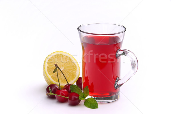 Thee vruchten 12 drinken bladeren citroen Stockfoto © LianeM