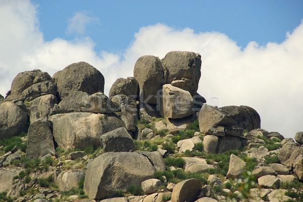 Valencia granito rock panorama montagna blu Foto d'archivio © LianeM