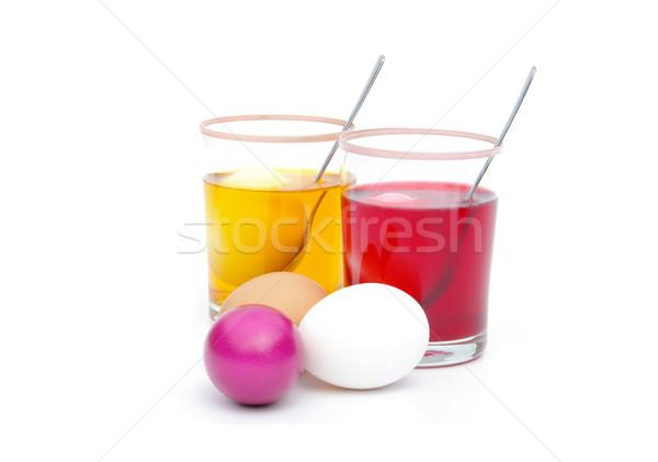 Huevos de Pascua color 14 Foto stock © LianeM