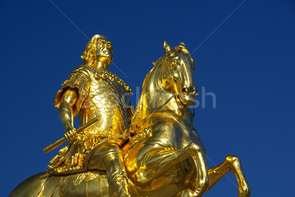 Dresden Golden Knight 04 Stock photo © LianeM
