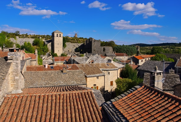 La Couvertoirade a Medieval fortified town in France Stock photo © LianeM