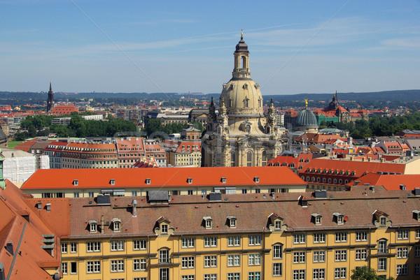 Сток-фото: Дрезден · Церкви · Lady · 22 · Skyline · облаке