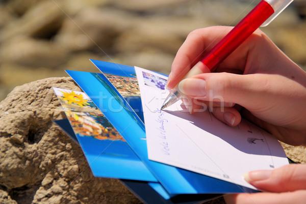 writing a picture postcard 05 Stock photo © LianeM