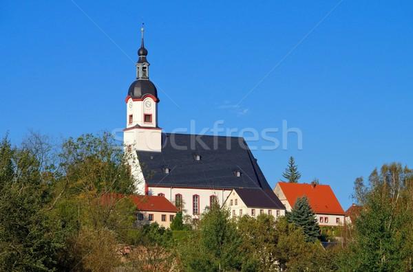 аббатство здании осень осень башни города Сток-фото © LianeM