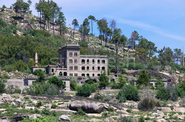 Villa panorama montagna blu pietra Hill Foto d'archivio © LianeM