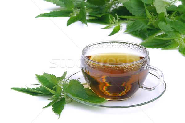 çay tıbbi cam arka plan içmek hasta Stok fotoğraf © LianeM