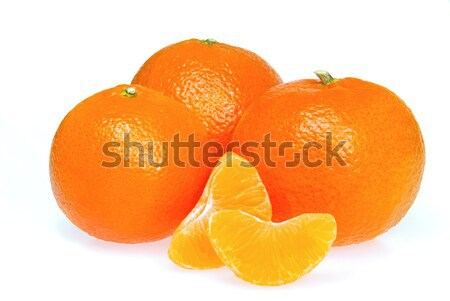 Mandarino isolato natura colore bianco fresche Foto d'archivio © LianeM