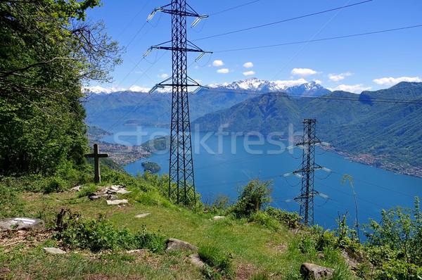 Göl İtalyan kuzey su dağ Stok fotoğraf © LianeM