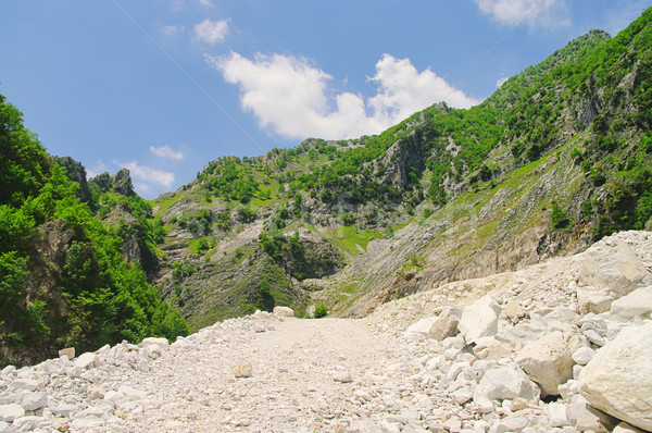 Carrara  marble stone pit 19 Stock photo © LianeM