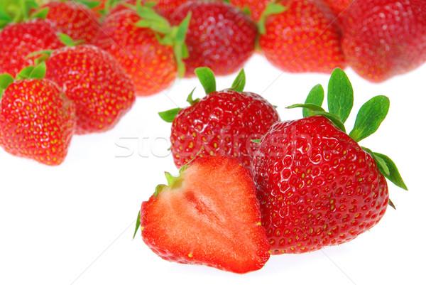 strawberry isolated 12 Stock photo © LianeM