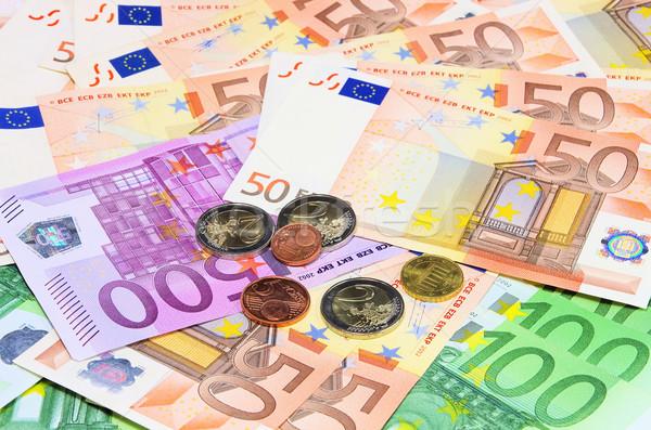 Pénz 13 üzlet bank Euro jegyzet Stock fotó © LianeM