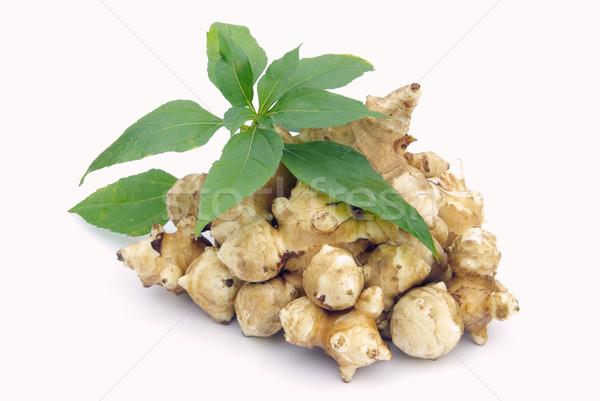 Zenzero 10 verde foglie sani Spice Foto d'archivio © LianeM