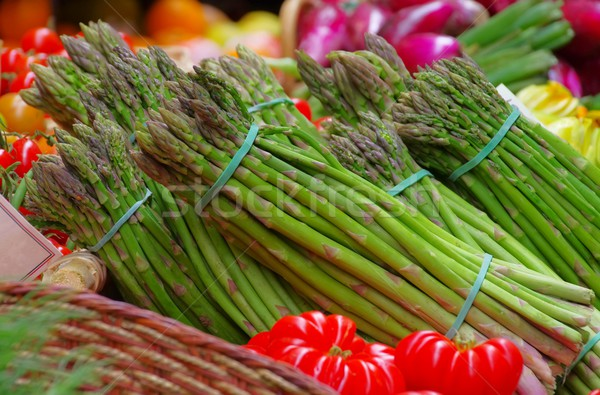 asparagus at the market 01 Stock photo © LianeM