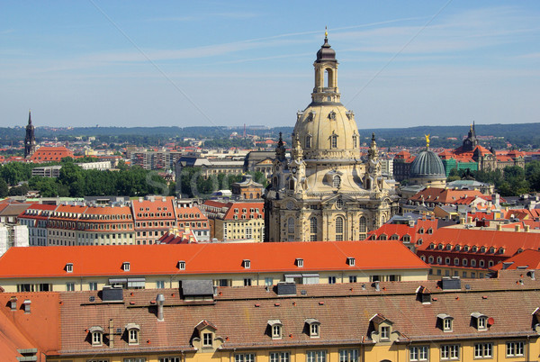 Dresden Church of Our Lady 23 Stock photo © LianeM