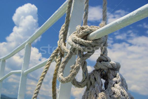 Cuerda 12 textura barco blanco patrón Foto stock © LianeM