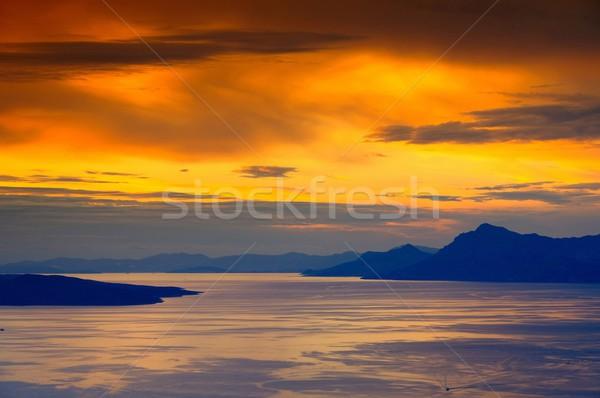 Makarska Riviera sunset  Stock photo © LianeM